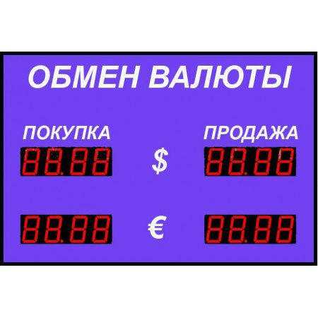 Табло курсов валют Р-58-2