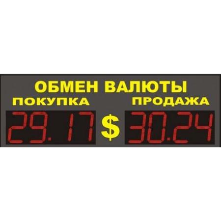 Уличное табло обмена валют Р-8х1-110