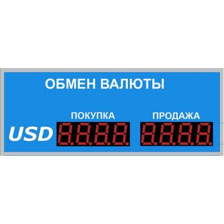 Уличное табло обмена валют Р-8х1-150