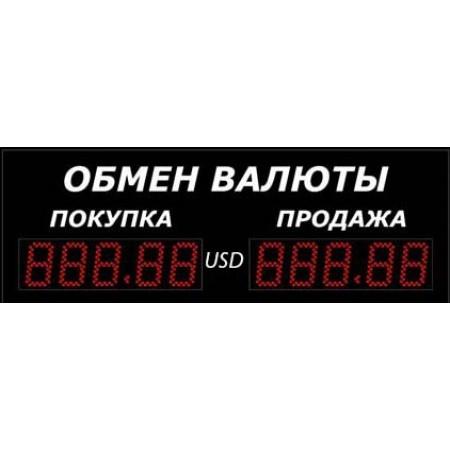 Уличное табло обмена валют Р-8х1-350