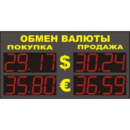 Уличное табло обмена валют Р-8х2-110