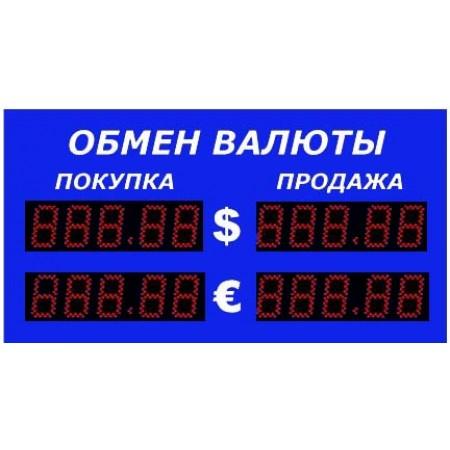 Уличное табло обмена валют Р-8х2-270