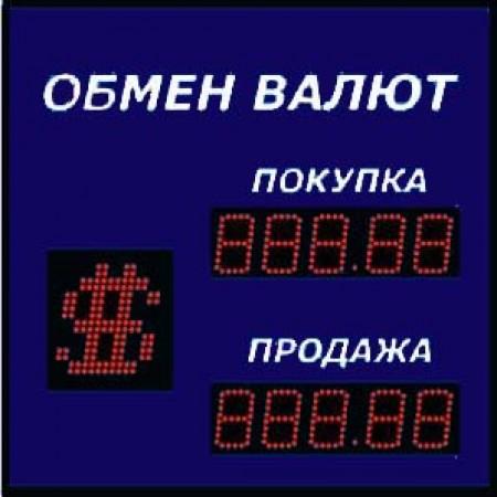 Уличное табло обмена валют Р-8х2хП-270