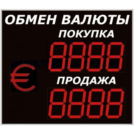 Уличное табло обмена валют Р-8х2хП-350
