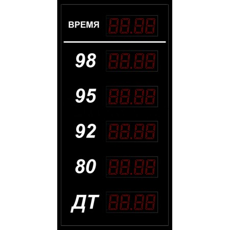 Электронное табло цен для кассы АЗС АЗС-20х6-Т