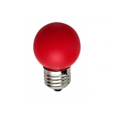 Лампа шар светодиодная e27 3 LED ?45мм - красная для белт-лайт