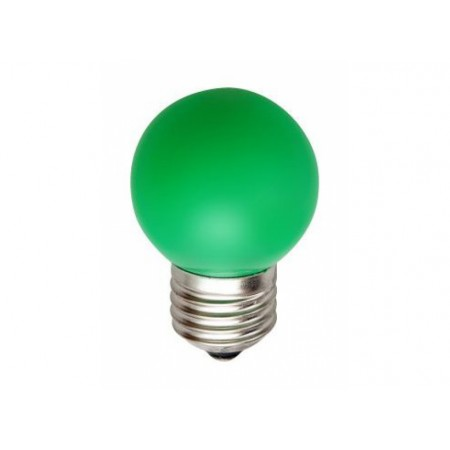 Лампа шар светодиодная e27 3 LED ?45мм - зеленый для белт-лайт