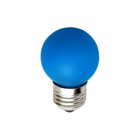 Лампа шар светодиодная e27 3 LED ?45мм - синий для белт-лайт