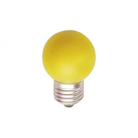 Лампа шар светодиодная e27 3 LED ?45мм - желтая для белт-лайт