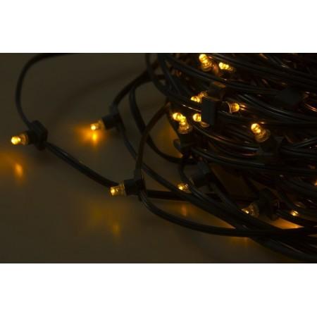 """Гирлянда 100 метров """"LED Clip Light"""" 12V 150 мм, цвет диодов Тепло-Белый, Flashing (Белый) IP 67"""