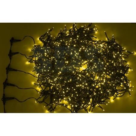 """Гирлянда """"LED ClipLight"""" 24V, 3 нити по 10 метров, цвет диодов Тепло-Белый"""
