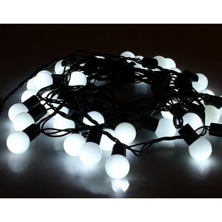"""Гирлянда """"LED ClipLight - ШАРИКИ"""" свечение с динамикой, 24V, 3 нити по 20 метров, БЕЛЫЕ светодиоды"""