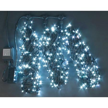 """Гирлянда """"LED ClipLight"""" 24V, контроллер 3 нити по 20 метров, СИНИЙ"""