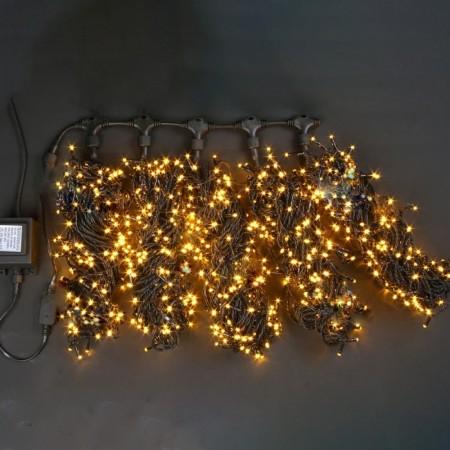 "Гирлянда ""LED ClipLight"" 24V, 5 нитей по 20 метров, ЖЕЛТЫЙ мерцающий"