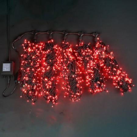 """Гирлянда """"LED ClipLight"""" 24V, 5 нитей по 20 метров, КРАСНЫЙ мерцающий"""