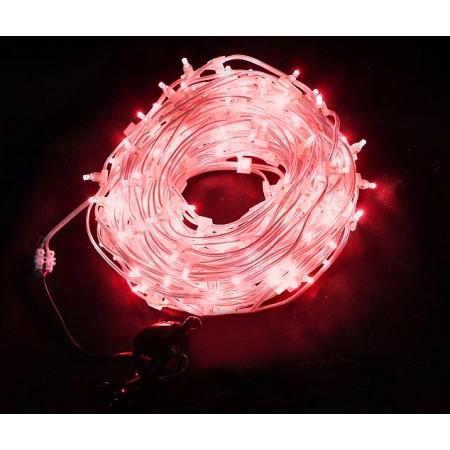 Клип-лайт светодиодный LED-LP-100M-12V-R красный, 100 метров, без трансформатора, прозрачный провод.