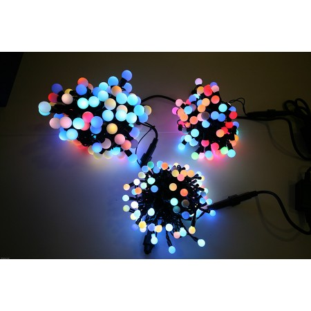 "Гирлянда ""LED ClipLight - МУЛЬТИШАРИКИ"" 24V, 3 нити по 20 метров, RGB"