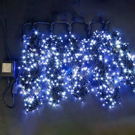 """Гирлянда """"LED ClipLight"""" 24V, 5 нитей по 20 метров, СИНИЙ мерцающий"""