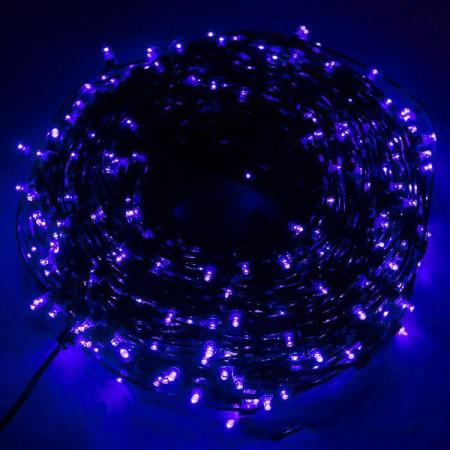 Клип-лайт светодиодный LED-LP-100M-12V-B синий, 100 метров, без трансформатора, прозрачный провод