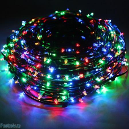 Клип-лайт светодиодный LED-LP(F)-100M-12V-RGBY, 100 метров, без трансформатора, с эффектом мерцания
