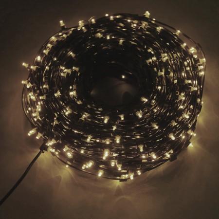 Клип-лайт светодиодный LED-LP(F)-100M-12V-WW теплый белый, 100 метров, без трансформатора, с эффектом мерцания