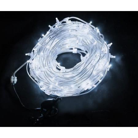 Клип-лайт светодиодный LED-LP-100M-12V-W белый, 100 метров, без трансформатора, прозрачный провод