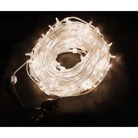 Клип-лайт светодиодный LED-LP-100M-12V-WW теплый белый, 100 метров, без трансформатора, прозрачный провод