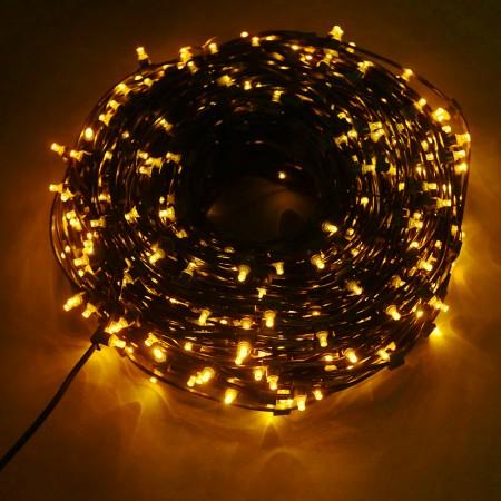Клип-лайт светодиодный LED-LP(F)-100M-12V-Y желтый, 100 метров, без трансформатора, с эффектом мерцания