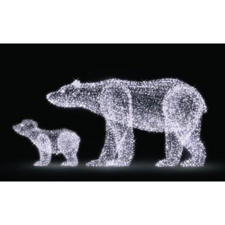 """Светодиодная конструкция большая """"Медведь и медвежонок"""" LED-205"""