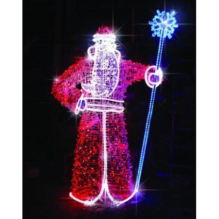 """Светодиодная конструкция большая """"Дед Мороз"""" LED-400"""