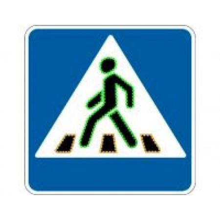 """Светодиодный дорожный знак 5.19 """"Пешеходный переход"""" анимационный цветной"""