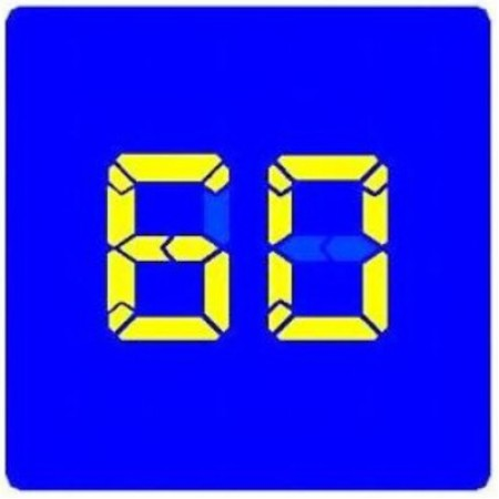 """Управляемый светодиодный дорожный знак """"Рекомендуемая скорость"""" 6.2"""