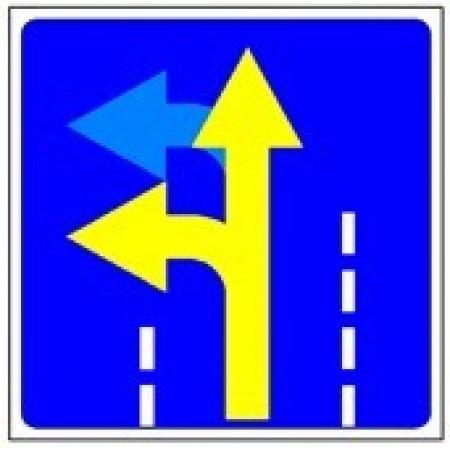 """Управляемый светодиодный дорожный знак """"Разрешенное движение по полосе"""" 5.15.2"""