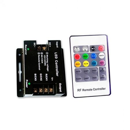 Контроллер для управления светофором с дистанционным пультом (12-24V, 288-576W, ПДУ 20кн)