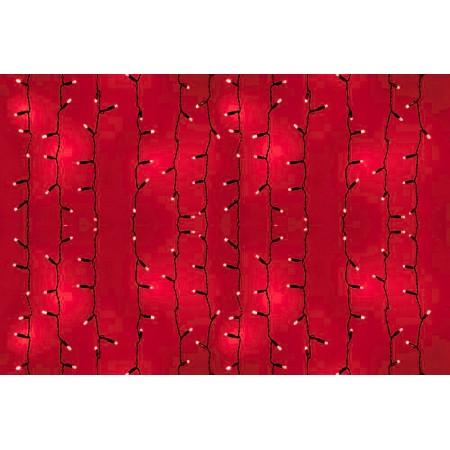 """Гирлянда """"Светодиодный Дождь"""" 2х1,5м, постоянное свечение, белый провод, 220В, диоды Красные"""
