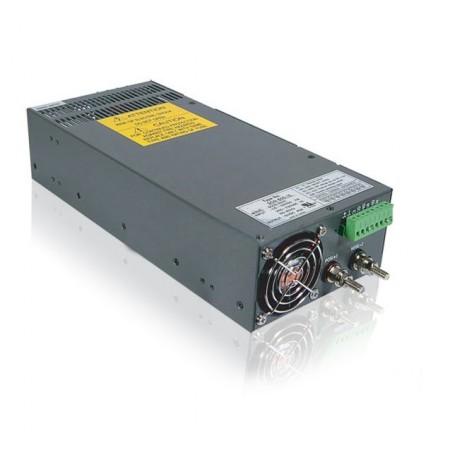Интерьерный источник питания в металлическом кожухе с вентилятором БП-24-800 Вт