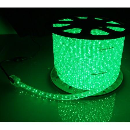 Дюралайт круглый чейзинг LED-XD-5W-96-220V-G 5-ти проводной, зеленый