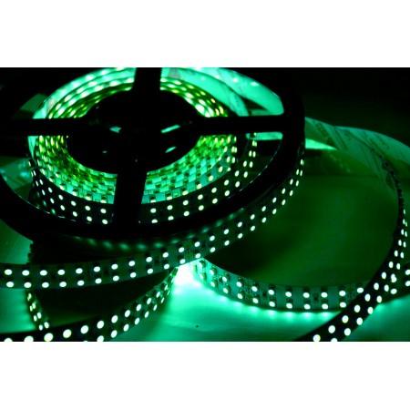 Светодиодная лента RT 2-5000 12V Green-5mm 2x (3528,600LED,LUX)