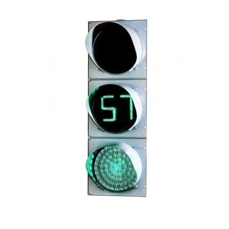 Светофор 300 мм. Т.1.2 с ТООВ, транспортный дорожный