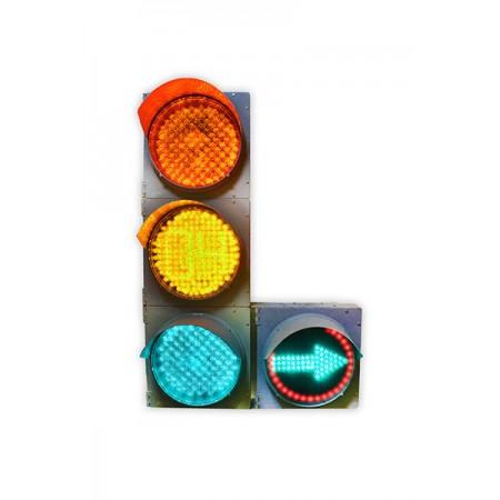 Светофор 300 мм. транспортный Т.1.ПЛ2 светодиодный дорожный с одной доп. секцией (стрелка право или лево)