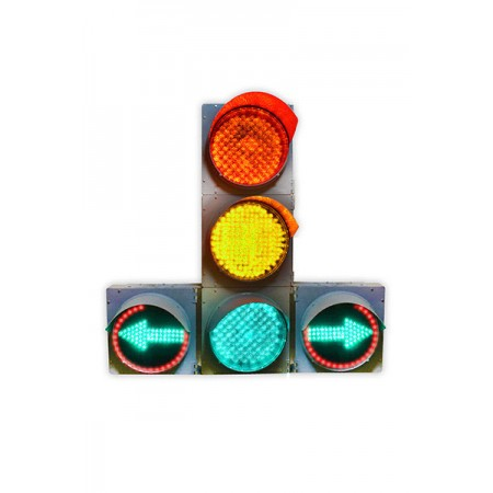 Светофор 200 мм. транспортный Т.1.ПЛ1 светодиодный дорожный с двумя доп. секциями