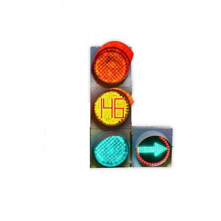 Светофор 300 мм. транспортный Т.1.Л2 / Т.1П2 (С ТООВ) светодиодный дорожный с одной доп. секцией (стрелка право или лево)