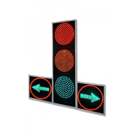 Светофор 300 мм. Т.1ПЛ2 с доп. секциями, транспортный, дорожный (плоский)