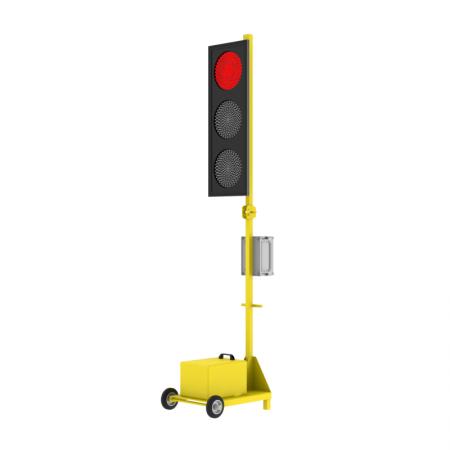 Мобильный светофор односторонний Т.1.1 200мм. без акб