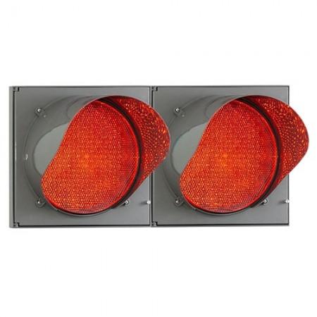 Светофор светодиодный сдвоенный  Т.6.д.2 300мм с красным излучаетелем