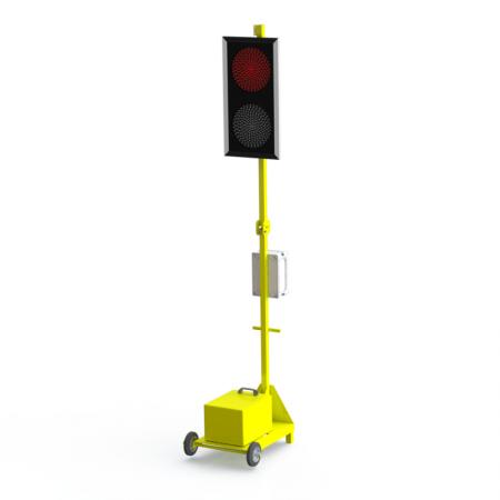 Мобильный светофор односторонний Т.8.1 200мм. без акб