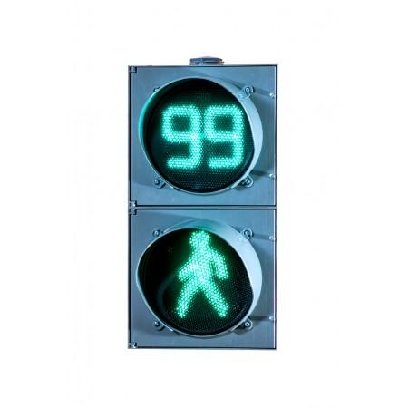 Светофор пешеходный светодиодный П.1.1 200мм, с ТООВ-99 и анимацией (П.1.1 с ТВАЗ)