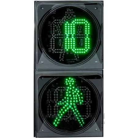 Светофор пешеходный светодиодный П.1.2 300мм, с ТООВ-99 разрешающего и запрещающего сигнала
