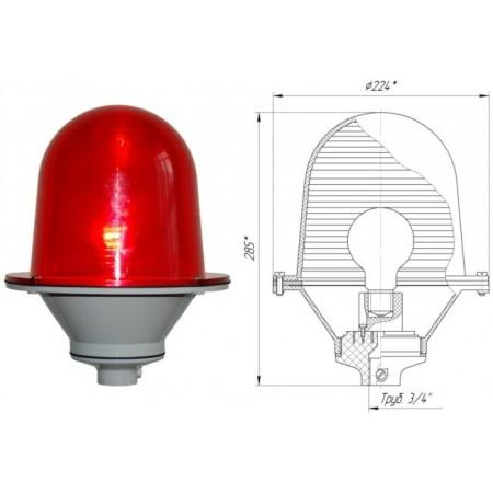 Заградительный огонь ЗОМ-75Вт тип «А» IP 54