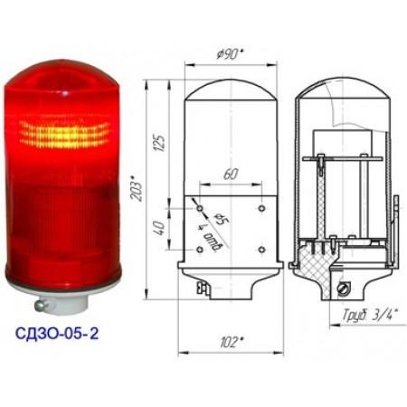 Заградительный огонь СДЗО-05-2, тип Б, 220V AC, IP54